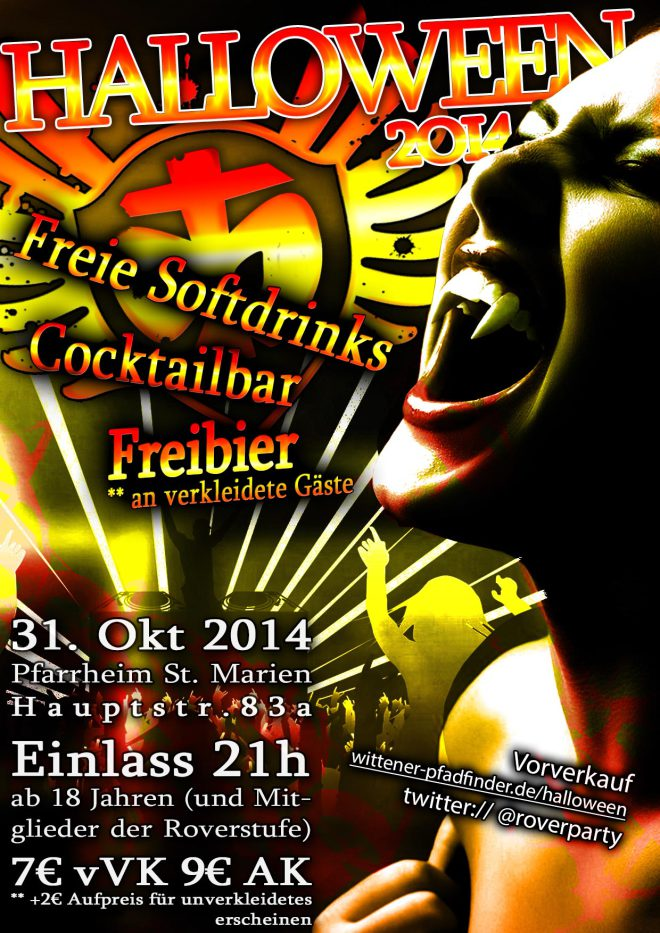 Hallowenn 2014 Party Flyer