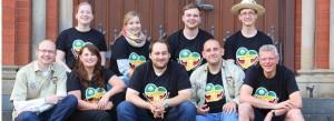 Unsere Reisegruppe: 9 Pfadfinderinnen und Pfadfinder und Pfarrer Reinhard Edeler aus der Gemeinde St. Marien Witten. Foto WAZ/Fischer