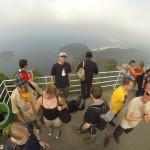 Wittener Pfadfinder auf dem Zuckerhut mit Blick auf die Copacabana